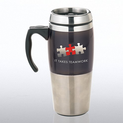It Takes Teamwork Stainless Steel Travel Mug