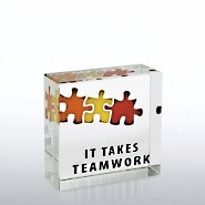 Mini Art Cubes - It Takes Teamwork