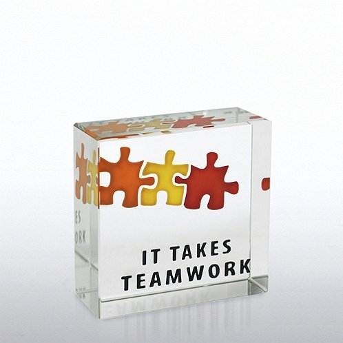 It Takes Teamwork Mini Art Cubes