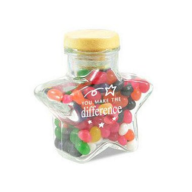 Glass Candy Jar - Star - You Make the Difference