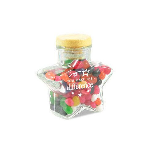 You Make the Difference Star Glass Candy Jar