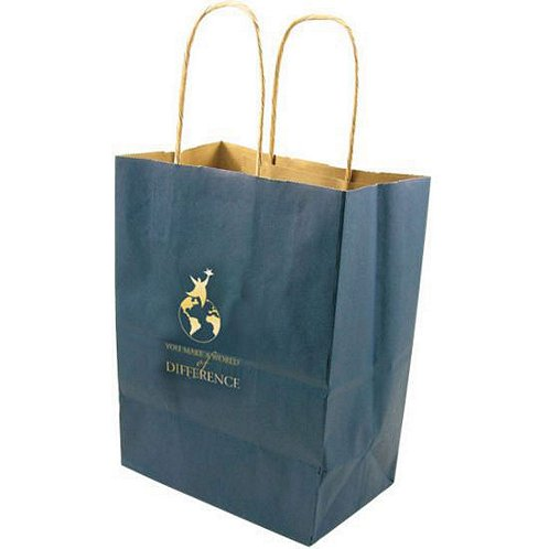 You Make a World of Difference Kraft Paper Gift Bag