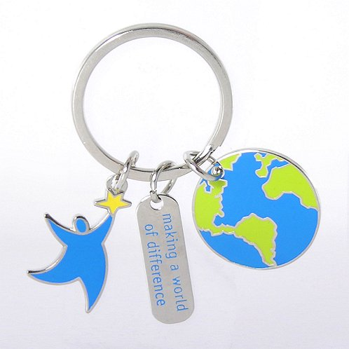 Making a World of Difference Simply Charming Key Chain
