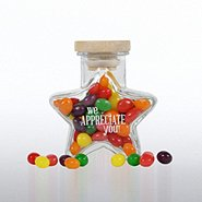 Glass Candy Jar - Star - We Appreciate You