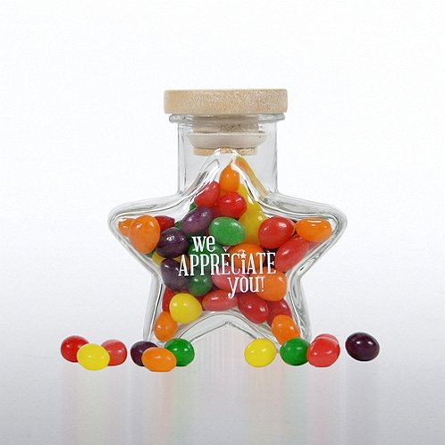 We Appreciate You Star Glass Candy Jar