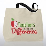 Tote Bag - Teachers Make the Difference - Small Apple