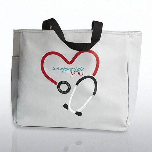 Stethoscope: We Appreciate You Tote Bag