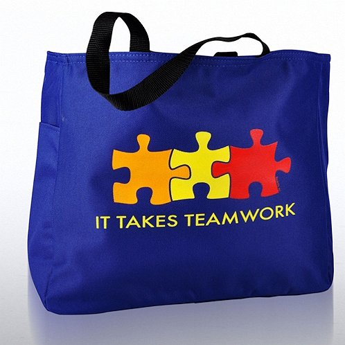 It Takes Teamwork Tote Bag