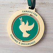 Spinner Ornament - Dove: Thanks For Making a Difference