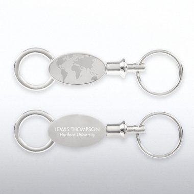 World of Difference Valet Keychain - Engravable