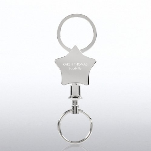 Star Engravable Key Holder