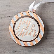 Spinner Ornament - Joy and Cheer