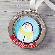 Spinner Ornament - You Put the Happy in Our Holidays