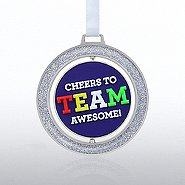 Spinner Ornament: Cheers to TEAM Awesome!