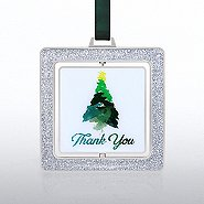 Spinner Ornament: Watercolor Tree, Thank You