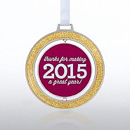 Spinner Ornament: Thanks for Making 2015 a Great Year!