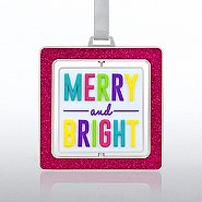 Spinner Ornament: Merry & Bright
