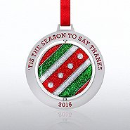 Spinner Ornament: 'Tis the Season to Say Thanks