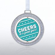 Spinner Ornament - Cheers to a great year!