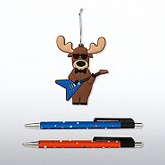 Holiday Ornament and Pen Set - Rockin' Reindeer