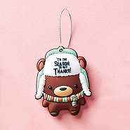 Oh What Fun! PVC Holiday Ornament - Bear: Tis the Season