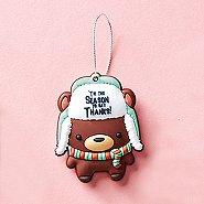 Oh What Fun! PVC Holiday Ornament - Bear: Tis the Season