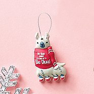 Oh What Fun! PVC Holiday Ornament - Llama: My Boss Thinks...