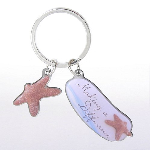 Starfish: Making a Difference Simply Charming Key Chain