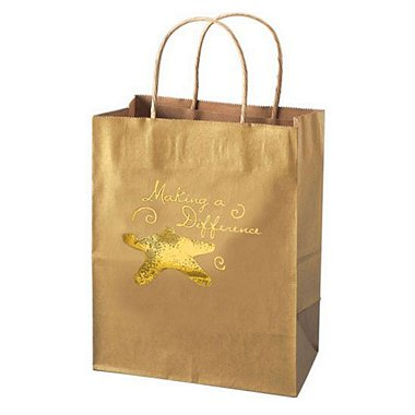 Kraft Paper Gift Bag - Starfish: Making a Difference