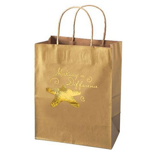 Starfish: Making a Difference Kraft Paper Gift Bag