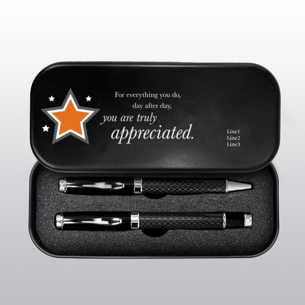 Executive Custom Carbon Pen Gift Set