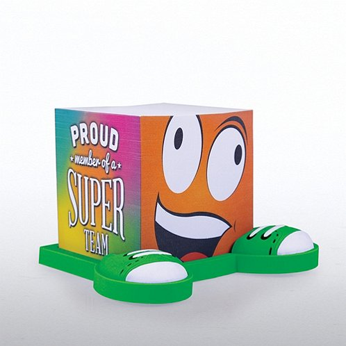Proud Member Of A Super Team Goofy Guy Note Cube