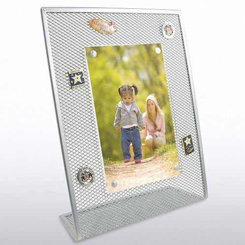 Silver Mesh Desktop Frame