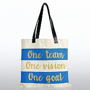 Metallic Tote Bag - One Team. One Vision. One Goal