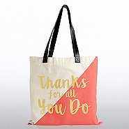 Metallic Tote Bag - Thanks for all You Do