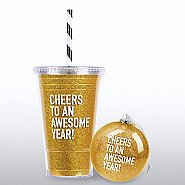 Holiday Glitter Gift Set - Cheers to an Awesome Year!
