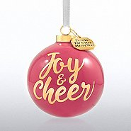 Holiday Cheer Ceramic Bulb - Joy & Cheer