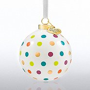 Holiday Cheer Ceramic Bulb - We Truly Appreciate You - Dots