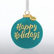 Holiday Cheer Ceramic Bulb - Happy Holidays