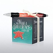 Note Cube & Pen Gift Set - Seascape Starfish