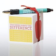 Note Cube & Pen Gift Set - Teachers Make the Difference