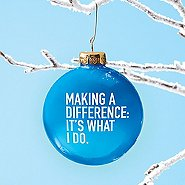 Value Ornament Bulb - Making A Difference: It's What I Do