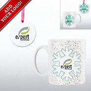 Add Your Logo - Cheerful Holiday Gift Set - My Boss Thinks..