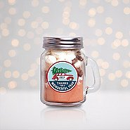 Hot Cocoa Mini Mason Jar - 2017: Thanks For A Wonderful Year