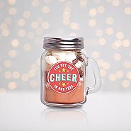 Hot Cocoa Mini Mason Jar - You Put The Cheer In Our Year