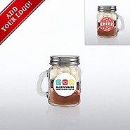 Add Your Logo - Hot Cocoa Mini Mason Jar - Cheer in Our Year