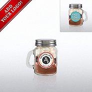 Add Your Logo - Hot Cocoa Mini Mason Jar - Happy Holidays
