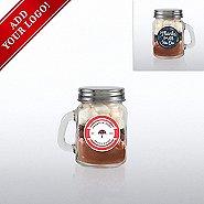 Add Your Logo - Hot Cocoa Mini Mason Jar - Thanks