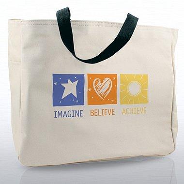 Tote Bag - Imagine, Believe, Achieve
