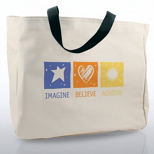 Imagine, Believe, Achieve Tote Bag